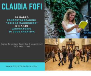Claudia Fofila voce tour